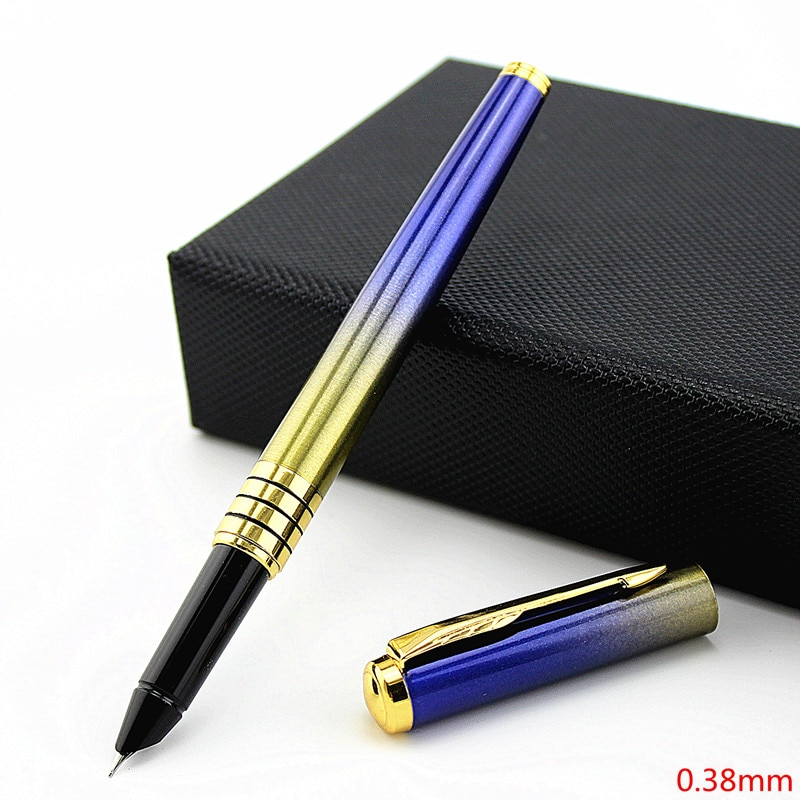 Free Shipping Business office fountain pen Luxury Metal ink Pen Office Executive Fast Writing Business Gift Pen fuliwen perfect upscale silvery scales hewn fountain pen office writing gift pen free shipping