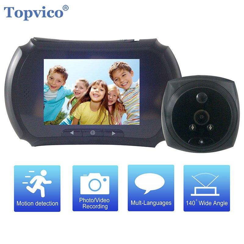 Topvico Video Doorbell Door Peephole Camera Motion Detection 4.0
