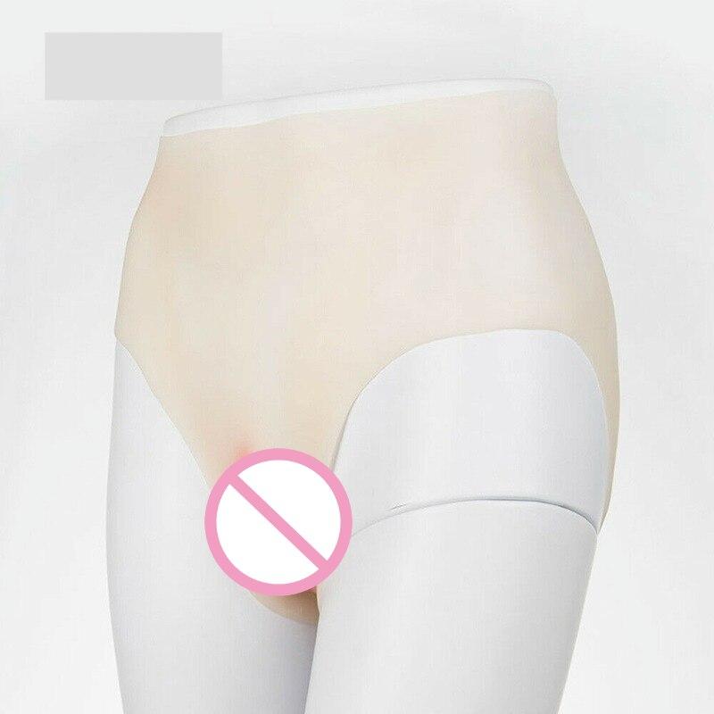 Ultra-thin simulation Sexy Fake Vagina Shaping Underwear Pseudo-Girl Slimming Shaper Pants 350g