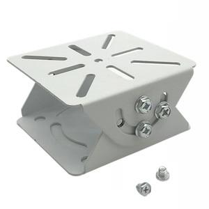 White Duckbill Head 2D Universal Joint Connector Security Surveillance Surveillance CCTV Camera Stand Mounting Bracket Holder
