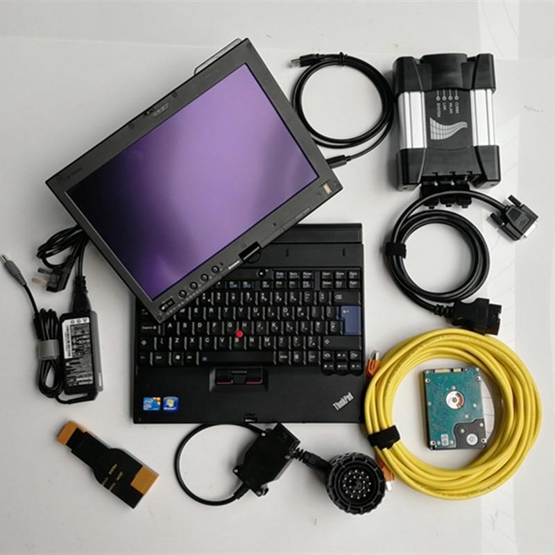 Para bmw diagnóstico icom próximo con el software de modo experto ista d / p hdd 500gb con ordenador portátil x200t pantalla táctil conjunto completo listo para usar