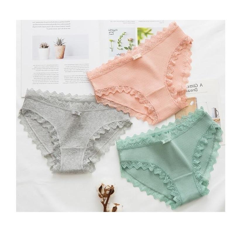 Sexy y erótico estilo japonés encaje algodón mezcla panty ropa interior