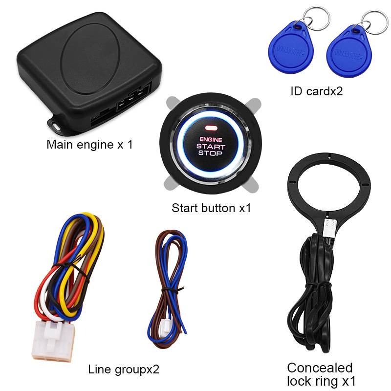 Car lock one key start RFID one key start system engine ignition system 12V automatic ignition