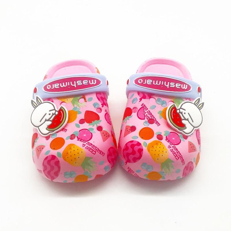 Sandalias chicas chicos verano GiCartoon agua playa Croc zapatos para niños conejito antideslizantes niñas zuecos jardín niños zapatillas