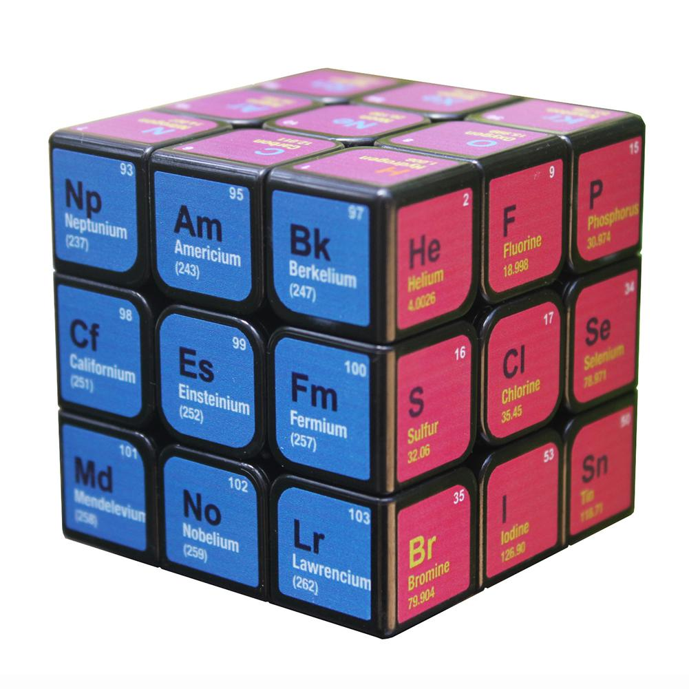 Cube Chemische Element Periodieke Tafel 3rd-order Cube Leren Formule Brain Teaser Twist Megaminx Magic Cube Puzzel Speelgoed