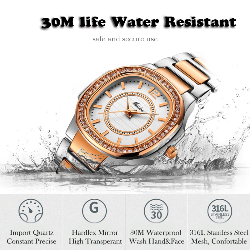 MISSFOX Women Watches 2020 Luxury Brand Diamond Quartz Rose Gold Ladies Watch Bracelet Xfcs Bling Dress Watch Relogio Feminino enlarge