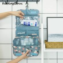 Mode emballage Cubes étanche voyage grande capacité sac de rangement Portable crochet lavage sac cosmétique mode voyage accessoires