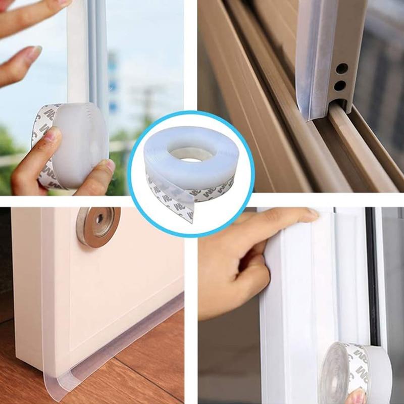 5M Soundproof Door Floor Seal Strip Weather Window Rubber Seal Weatherstrip Windproof Dust Self Adhesive Door Sealing Tape