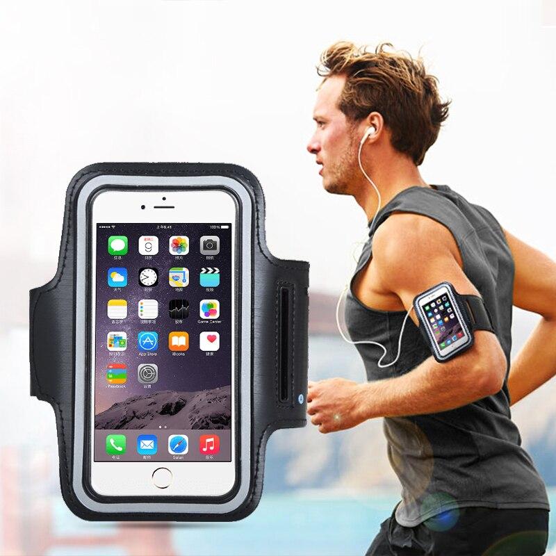 5.5 polegada universal esportes ao ar livre suporte do telefone braçadeira caso para xiaomi ginásio correndo saco telefone banda braço caso para huawei p20 mão