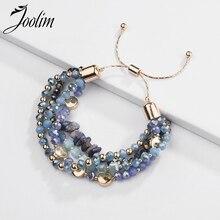 Joolim Jewelry Wholesale/4 Colors Natural Stone Bead Adjustable Charm Bracelet Bohemian Bracelets Women 2020 Fashion  Jewelry