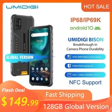 "UMIDIGI BISON IP68/IP69K Wasserdichte Robuste Telefon 48MP Matrix Quad Kamera 6.3 ""FHD + Display 6/8GB + 128GB NFC Android 10 Smartphone"