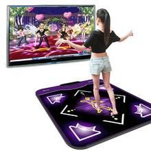 11mm antypoślizgowe taniec krok mata do tańca motion wykrywania bezprzewodowy dokładne oferty, Foot Print gry maty fitness klocki do komputera USB telewizora taniec mata