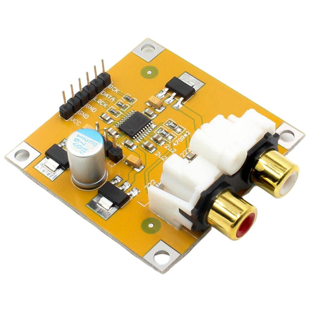 PCM5102 électronique I2S lecteur assemblé Module pratique vidéo DAC décodeur carte Durable au-delà de ES9023 pièces maison 32Bit 384K