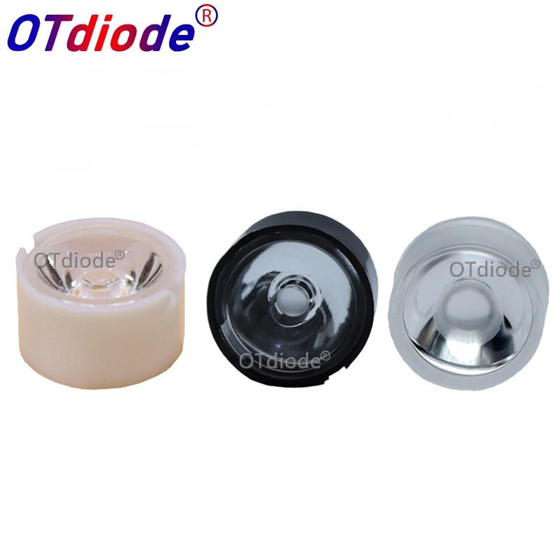 10-100pcs 13mm CREE LED Lens 10 30 45 60 90 Degree XPE2 XPG2 XTE Epiled/Semiled 3535 3030 Emitter Plano Reflector Collimator