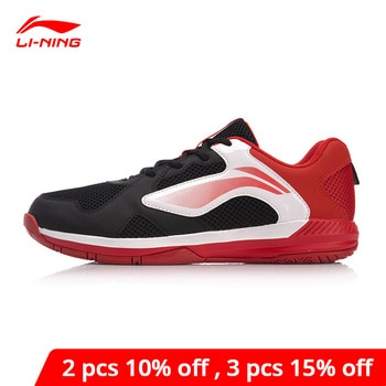 Туфли Li-Ning мужские для бадминтона, дышащая Спортивная нескользящая обувь, с подкладкой, AYTN051
