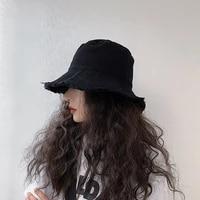 women bucket hat fashion cotton two side wearing bob hat chapeau wholesale fishermen cap uv protection visor hats