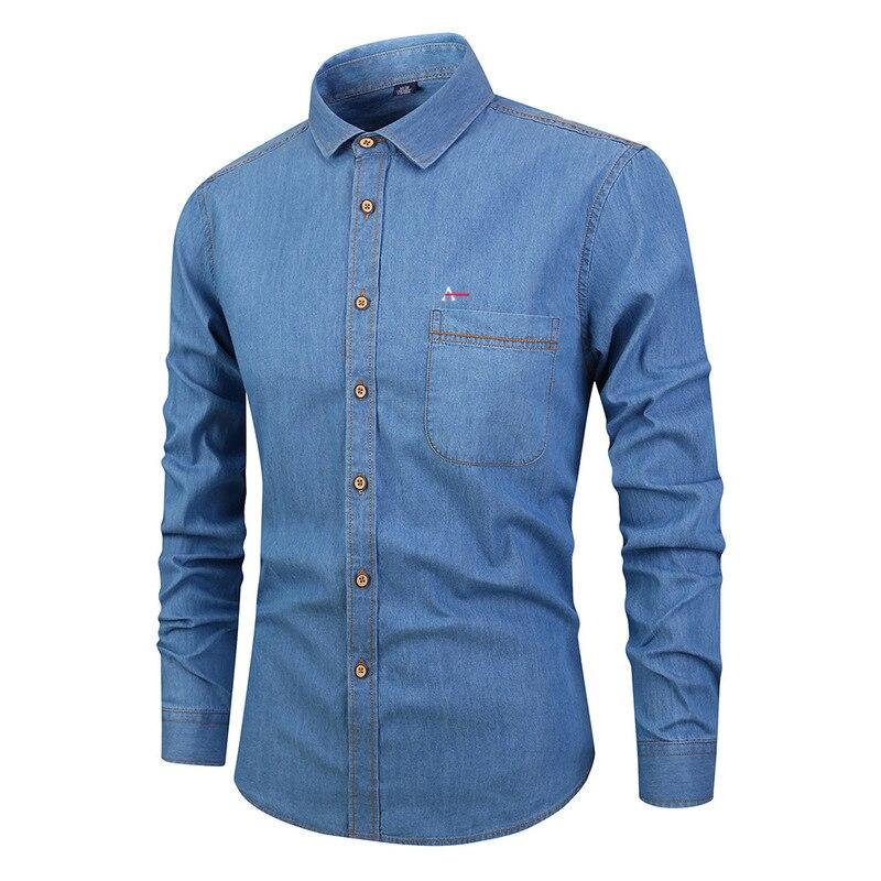 2019 aramy мужские повседневные джинсовые рубашки с длинным рукавом хлопковое платье aramy рубашка для мужчин