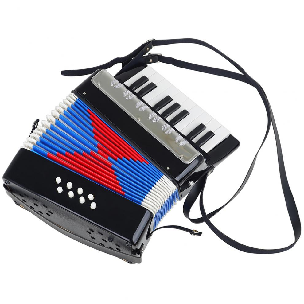 Accordion 17 Keys 8 Bass Mini Accordion Educational Musical Instrument Cadence Band for Both Kids & Adult Keyboard Instruments enlarge