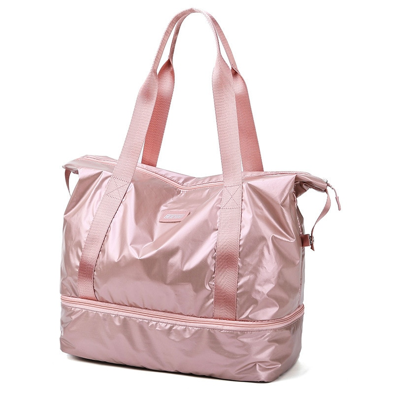 Travel Duffle Bags PINK Gym Bag Dry Wet Separation Yoga Bag Multifunction Handbags Big Capacity Shou