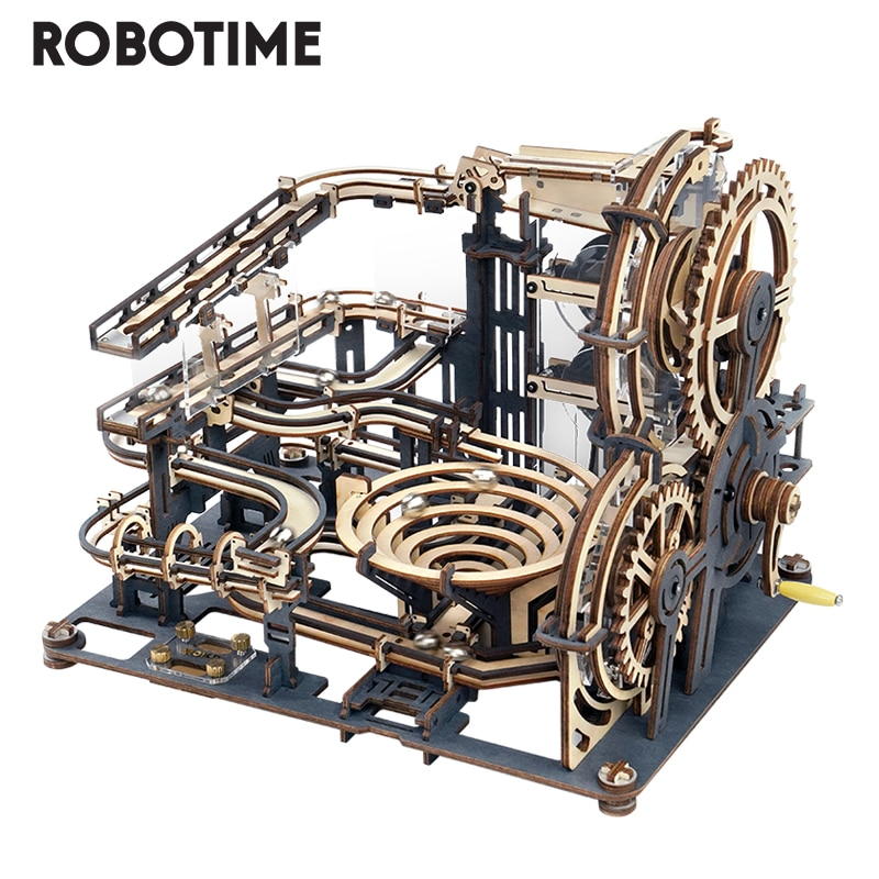 Robotime Rokr 294 PCS Marble Night City DIY Wooden Model Building Block Kits Assembly Toy Gift for Children
