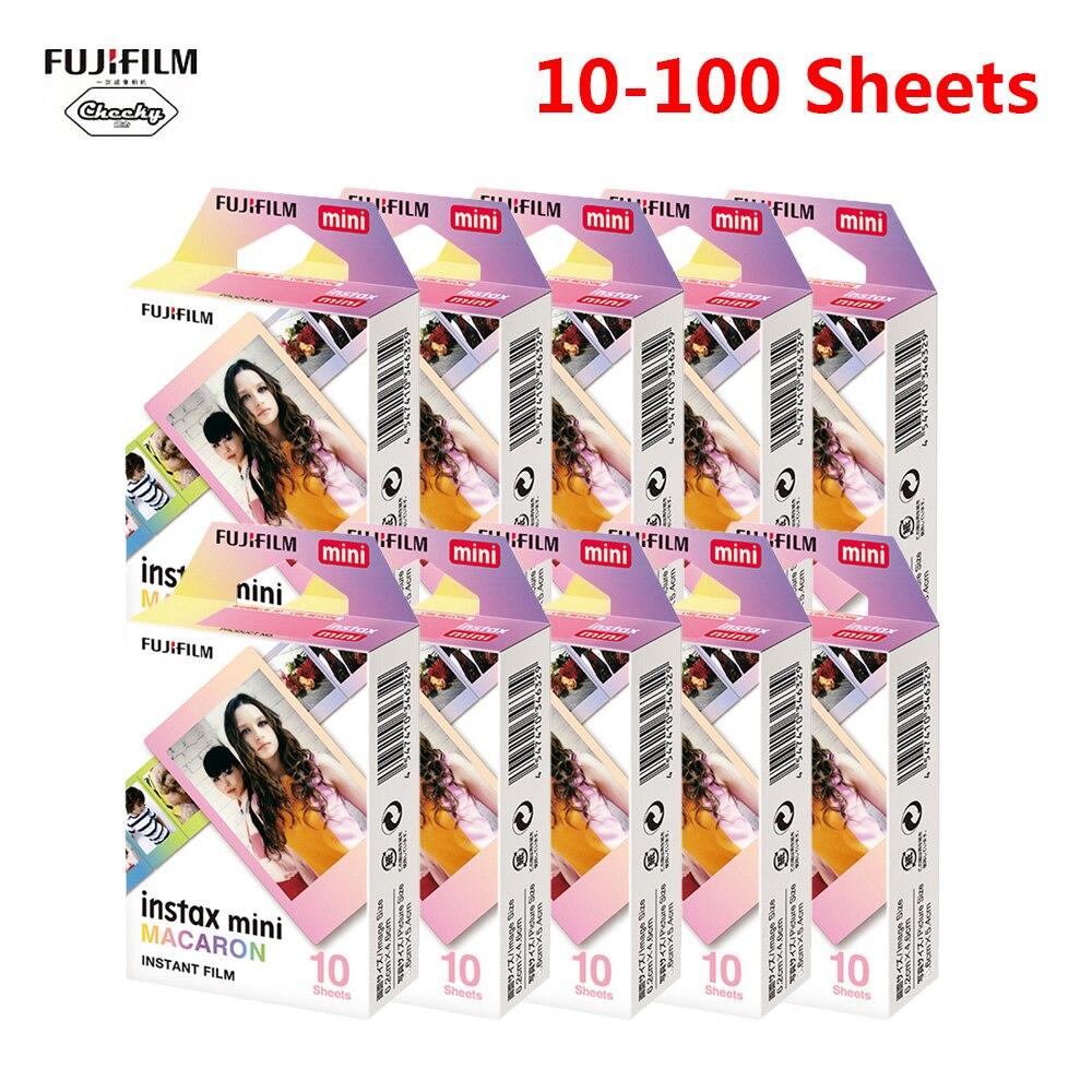 Fujifilm Instax mini 9 películas para cámara instantánea Fujifilm 7 8 25 50s 70 90 sp-1 Smartphone, impresora fotográfica Macaron 10-100
