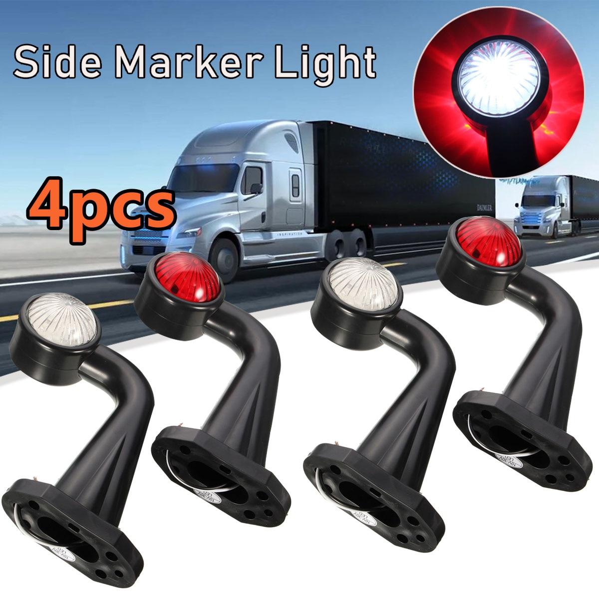 Paar 12 LED 12V 24V Doppel Seite Marker Licht Dual Anzeige Lampe E-Markiert Rot Weiß Für lkw-anhänger Lkw