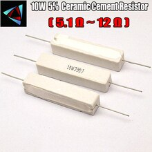 10W 5% 5,1 7,5 8,2 10 12 ohm R Keramik Zement Widerstand/Widerstand Passive Komponente