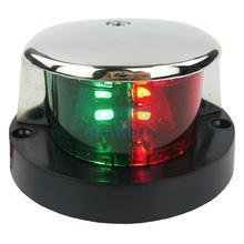 12V Boat LED Bi Color Bow Navigation Light Red Green Lenses Stainless Steel 90 Degree For Marine Yacht Speedboat