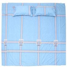 4 pièces rayure motif ensemble de literie taie doreiller housse de couette ensemble de draps pour chambre à coucher