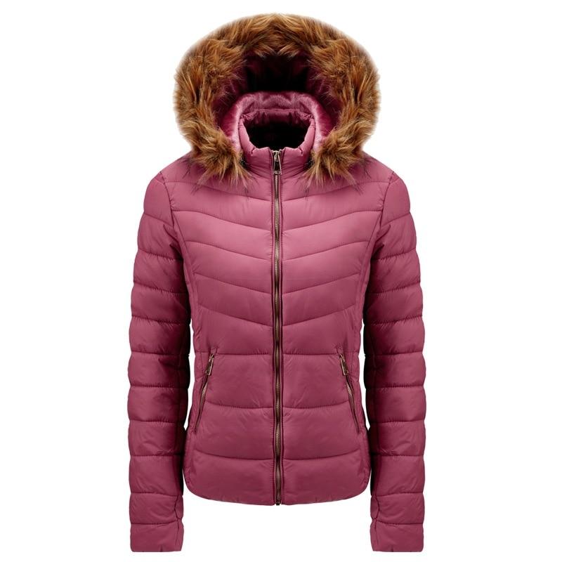 2021 женская зимняя осенняя куртка с хлопковой подкладкой и капюшоном, Свободная Женская Толстая куртка, короткая однотонная Повседневная Же...