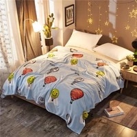 flannel hot air balloon blanket warmthrow blanket for sofa cover winter warm quilt bed cover bed blanket for beds christmas gift