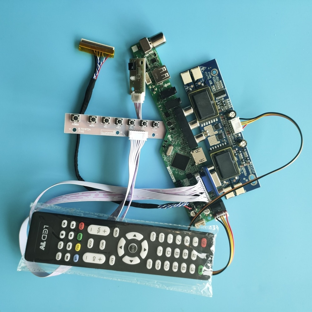 """Para LTM170EU-L21 placa de controlador resolução av tv cartão 1280x1024 17 """"30pin interface usb kit lcd 4 lâmpadas sinal digital"""