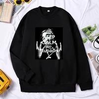 cool raper pullover hip hop rock singer women sweatshirt o neck hoodies harajuku print 2pac tupac shakur mens oversized clothing