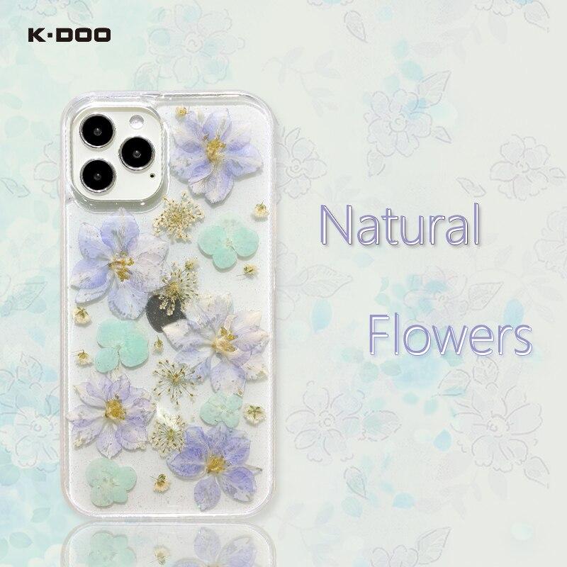 Natural Flower Luxury Original Imd Case for iPhone 12 11 Pro Max Mini 7 8 Plus XR X XS SE 2020 Silic