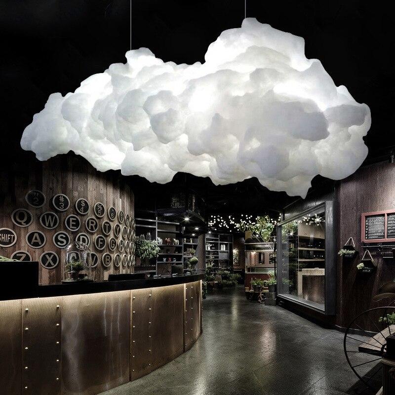 luminaria pendente em forma de nuvem para criancas moderna flutuante luminaria pendente