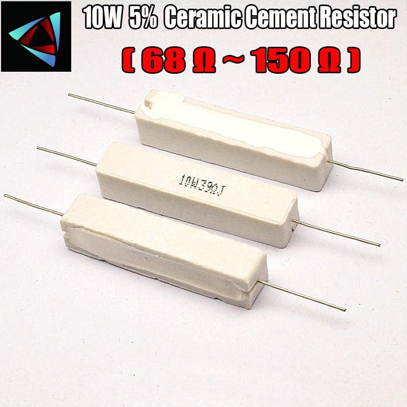 10W 5% 68 82 100 120 150 ohm R Ceramic Cement Resistor / Resistance Passive Component