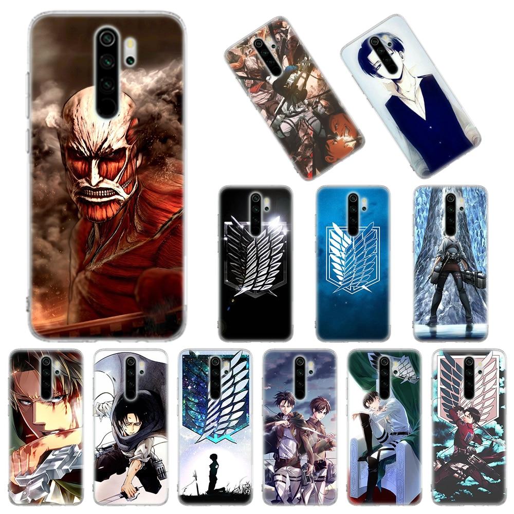 Attack On Titan Levi Soft Case for Xiaomi Redmi Note 8T 9S 6 7 8 Pro 9 Pro K20 K30 Pro 6A 7A 8A Silicone Cover