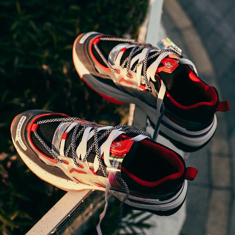 Мужские повседневные кроссовки, дышащие легкие, рабочие кеды, черные