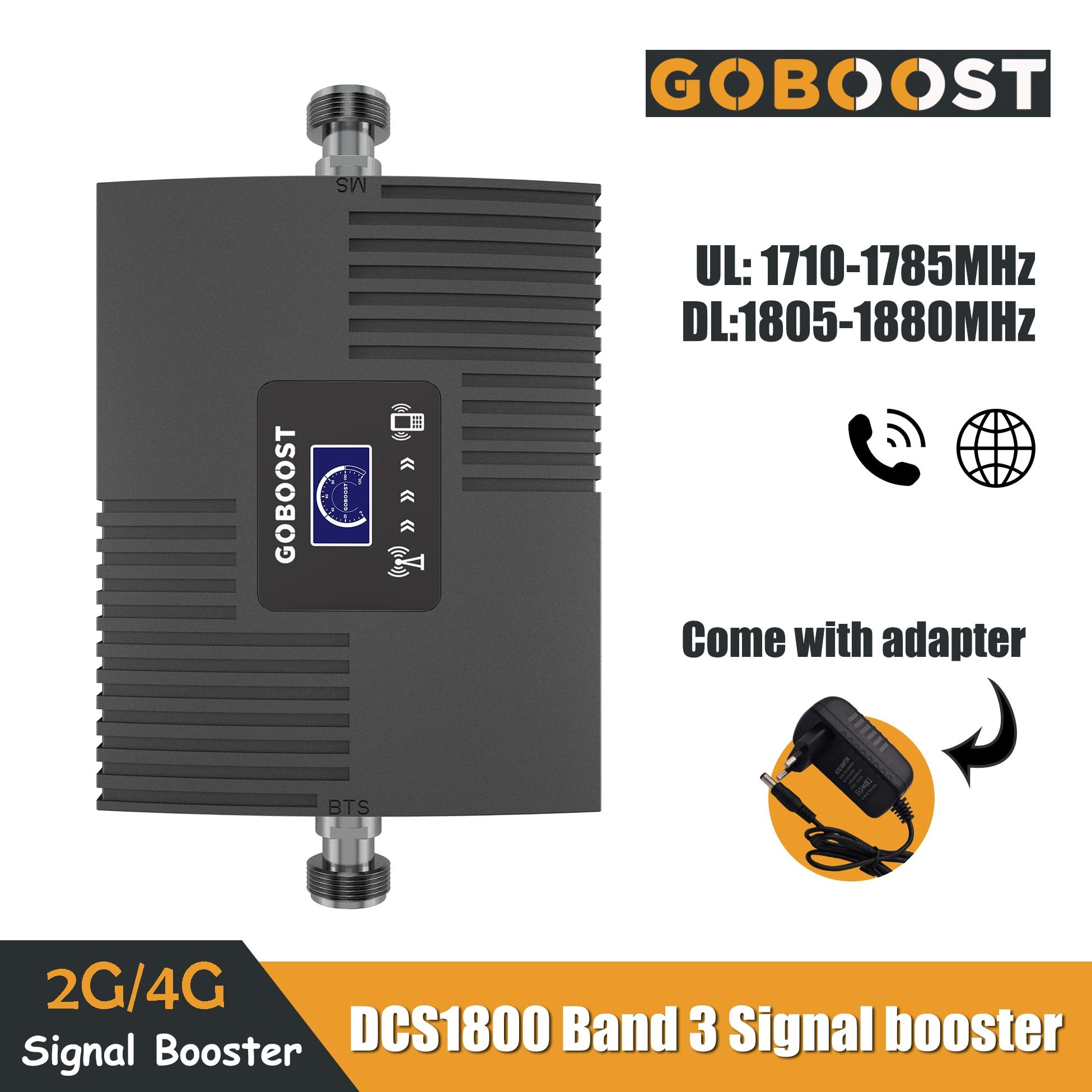 2G 4G LTE DCS 1800mhz Band3 téléphone portable amplificateur de Signal cellulaire affichage LCD Mini amplificateur Mobile répéteur données réseau 65dB Gain