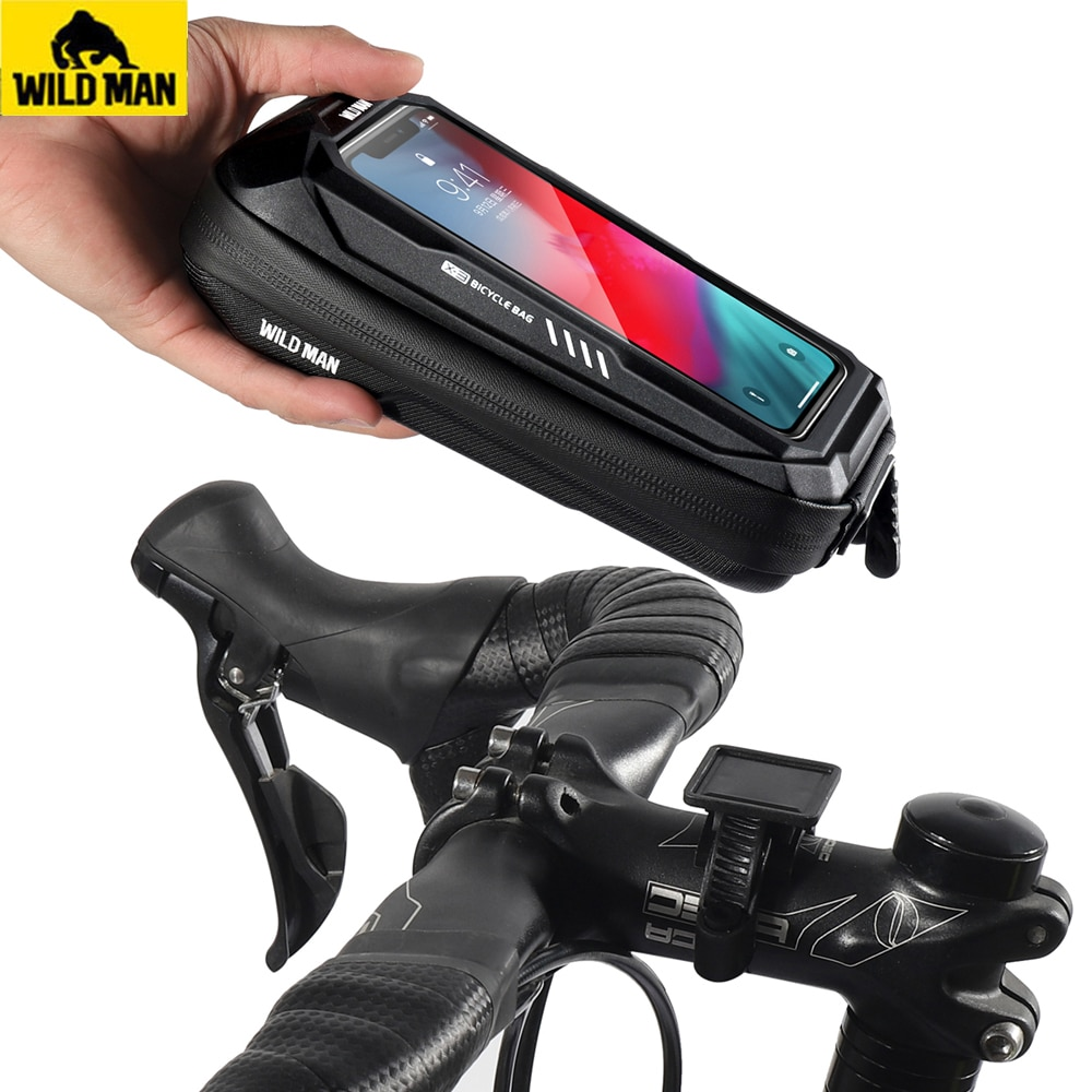 New Bike Phone Holder Bag Case Waterproof Cycling Bike Mount 6.9in Mobile Phone Stand Bag Handlebar