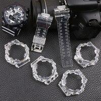 Watch accessories 16mm resin strap for Casio G-SHOCK GA-700-710-735 watch transparent strap men's & Ms sports watch case