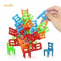 18 шт./компл. Игровые мини-балансирующие блоки, игрушечные сборные пластиковые блоки, балансирующие обучающие игрушки для детей