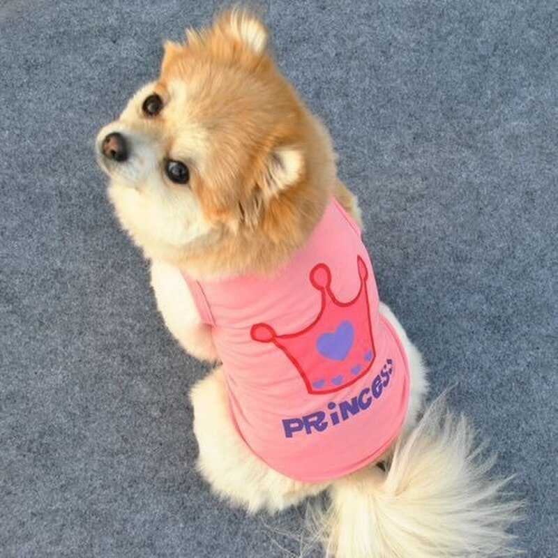 Ropa de verano PUOUPUOU para perros de dibujos animados, abrigo transpirable para perros bonitos, ropa para mascotas, camiseta para perros medianos pequeños, atuendo para cachorros, XS-L