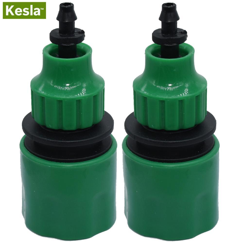 KESLA 2 adet hızlı kaplin adaptörü 1/4 (ID 4mm) veya 3/8 \'\'(8mm) dikenli konektör sulama bahçe sulama sera