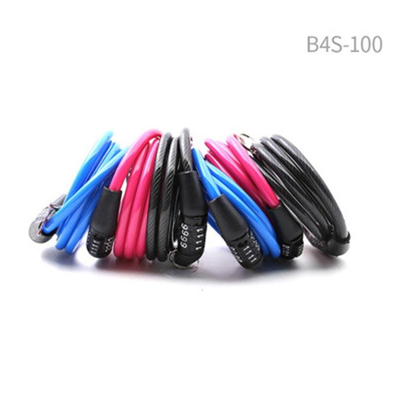 3 código de color contraseña combinación de bicicleta bloqueo de Cable de...