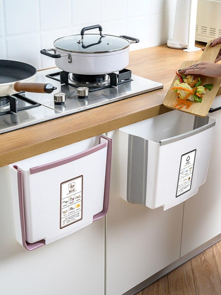 Кухня полка Кухня отходов коробка для хранения Кухня Складная настенная подвесная корзина для мусора Кухня Органайзер