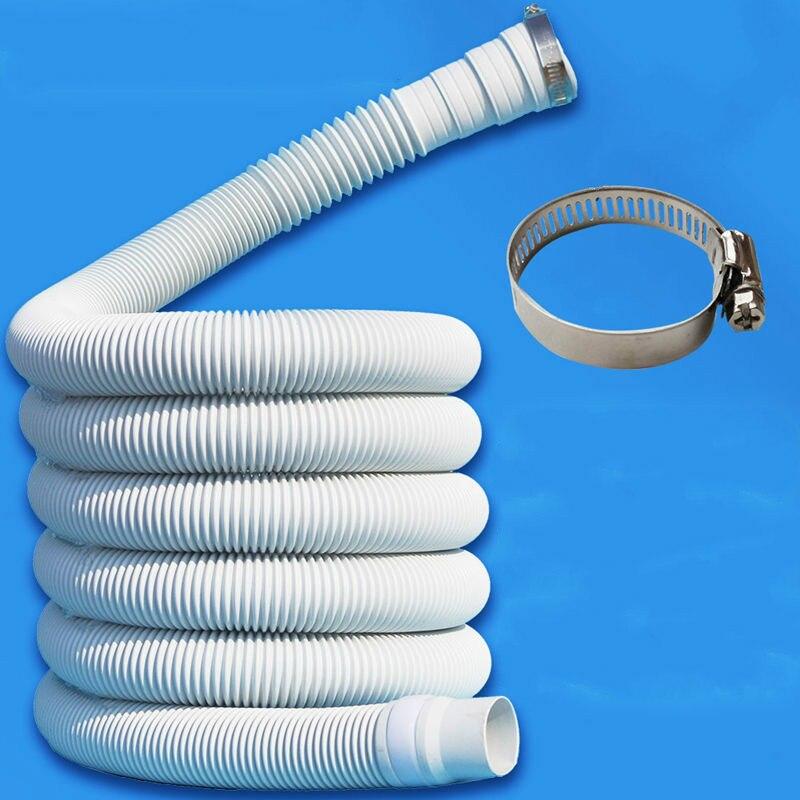 0,8/1/1.5/2 м гибкий шланг для кондиционера, универсальный удлинитель воды, труба для стиральной машины, смеситель для ванной комнаты E11722