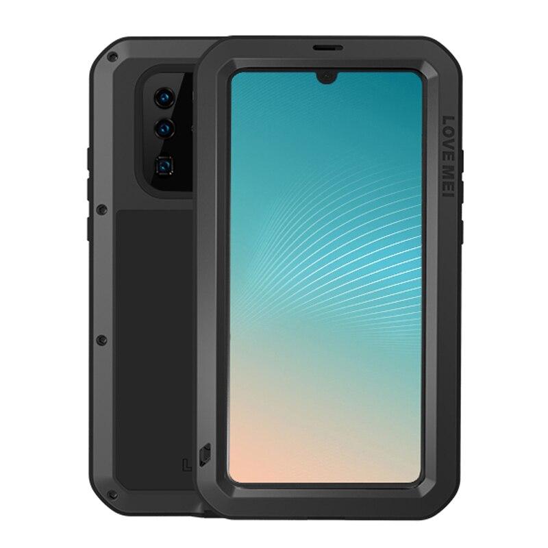 Funda Love Mei para Huawei P30 Pro, funda a prueba de golpes de Metal para Huawei P30 Lite, funda de teléfono para Huawei P30, Fundas resistentes a golpes, funda protectora