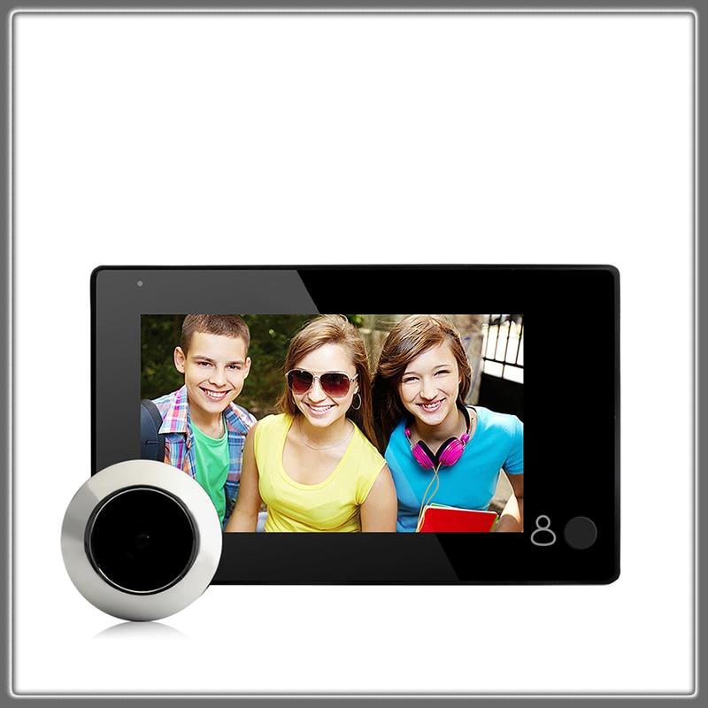 1080P Peephole Door Camera 4.3 Inch Color Screen With Door Bell LED Lights Electronic Doorbell Viewe