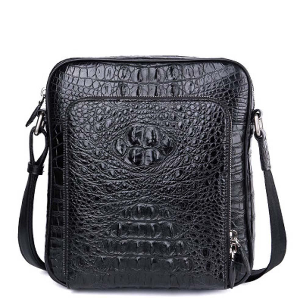 xingmengda male bag Single shoulder bag  crocodile bag new  business  leisure  Vertical section  Inclined shoulder bag men bag
